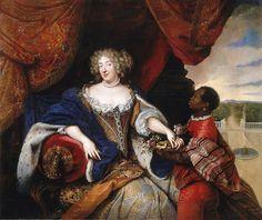 Lieselotte von der Pfalz Troy 1680 - Elizabeth Charlotte, Princess Palatine - Elisabeth Charlotte, Duchesse d'Orléans, with a moorish page.