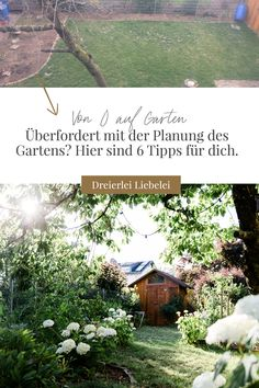 Von 0 auf Garten – meine 6 Tipps für die Gartenplanung Gardening, Nature, Travel, Plants, Tips, Naturaleza, Viajes, Lawn And Garden, Destinations