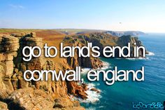 go to land's end in cornwall, england