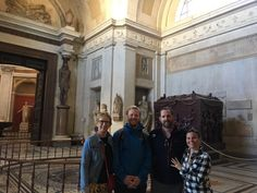 Our guide got this photo of our clients in the Vatican on September 22nd! This was a great day because as you can see the Vatican Museum is basically empty thanks to our early entrance! For more information on our Vatican early entrance small group tours: www.livitaly.com/tour/early-entrance-vatican-small-group-tour/?src=pinterest