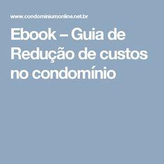 Ebook – Guia de Redução de custos no condomínio