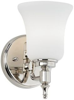 Possini Euro Etched Opal Glass with Nickel Wall Sconce - #EUU1746 - Euro Style Lighting