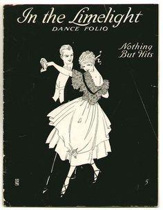 old sheet music print