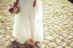 #dress #bride #flowers