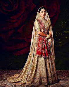 Top 15 Wedding Lehengas worn by Real Brides in Wedding Dresses For Girls, Girls Dresses, Bridesmaid Dresses, Bridal Lehenga Collection, Pink Lehenga, Royal Clothing, Lehenga Designs, Skinny Girls, Bride Look