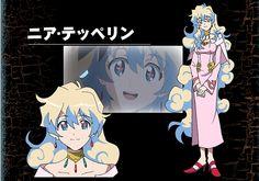 Nia Teppelin from Tengen Toppa Gurren Lagann Nia Gurren Lagann, Female Characters, Anime Characters, Yoko Littner, Reborn Katekyo Hitman, Female Character Design, Anime Art Girl, Japanese, Manga