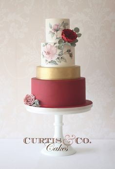 Elegant and beautiful tiered wedding cakes