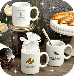 Personalized Coffee Espresso Cups - party and wedding favors - gifts