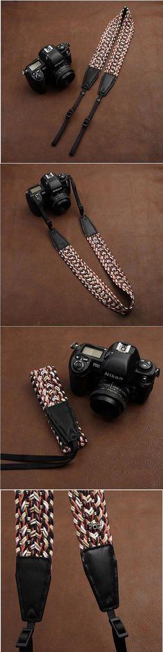 Both ends brown skin Handmade DSLR Leather Camera Wrist Strap - 8789 by i-cam