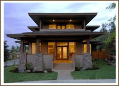Craftsman Prairie Style House Plans As Well Frank Lloyd Wright Modern Style  Home As Well Modern Craftsman House Exterior Likewise Craftsman Bungalow  House ...