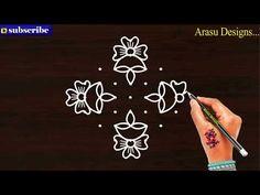 #Arasudesigns#sikkukolam#kambikolam Beautiful kolam, 9 dot muggulu, vilakku kolam - Nandhana 7 - YouTube