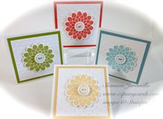Love these little note cards created with Stampin' Up!, can be used for any gift occasion!  EZPeasyCards - Blog