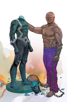 Absorbing Man (Carl Creel) vs. Black Bolt (Blackagar Boltagon) | art by Christian Ward