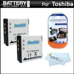2 Pack Battery Kit For Toshiba Camileo BW10 Waterproof HD Video Camera Includes 2 Extended Replacement (900 maH) PX1686 Batteries + LCD Screen Protectors + MicroFiber Cleaning Cloth (Electronics)  http://www.amazon.com/dp/B005LRSJ0U/?tag=goandtalk-20  B005LRSJ0U