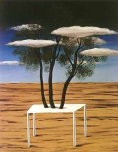 """Magritte's """"The Oasis""""   (click to go to a website of Magritte's work)"""
