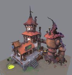 Abandoned Alchemy Workshop, Stoyan Stoyanov on ArtStation at https://www.artstation.com/artwork/abandoned-alchemy-workshop