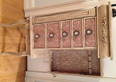 Distressed Floral Taupe Repurposed Jewelry Armoire- Custom Made To Order by funandfancydesigns on Etsy https://www.etsy.com/listing/217696453/distressed-floral-taupe-repurposed