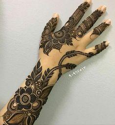 Latest Henna Designs, Floral Henna Designs, Finger Henna Designs, Mehndi Designs For Girls, Mehndi Designs For Fingers, Modern Mehndi Designs, Mehndi Designs Book, Wedding Mehndi Designs, Latest Mehndi Designs