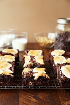 Thick S'mores Brownies