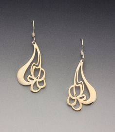 Art Nouveau Iris Earrings.