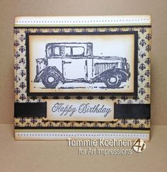 Old-Antique-Car-l-k-photo-examples-Art-Impressions-Rubber-Stamp