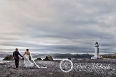 Walk by the Pencarrow lighthouse. Wedding photography in Wellington, NZ. By…