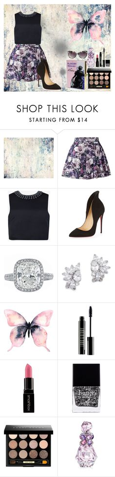 """""""#28"""" by darina-kozlova ❤ liked on Polyvore featuring John Beard Collection, Ted Baker, Christian Louboutin, Kenneth Jay Lane, WALL, Lord & Berry, Smashbox, Butter London, Bobbi Brown Cosmetics and Vera Wang"""