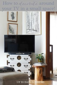 Struggling with your tv stand decor? Check out these easy tips and tricks for different types of media stands and how to decorate around them!