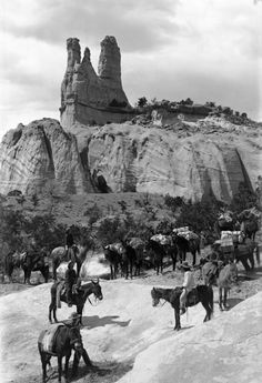 1889, Navajo Church Rock. Famous Land Mark on the Old Prescott Trail, near Fort Wingate, New Mexico