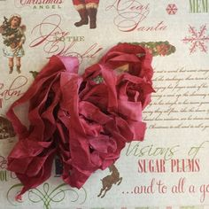 ❥ cranberry red dyed seam binding