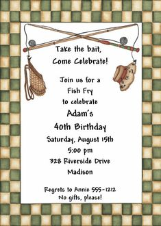 Fish Fry Invitations Fish Fry Invite Friends And Lent