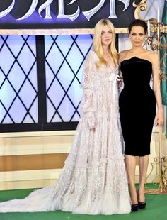 Angelina Jolie and Elle Fanning at the Tokyo premiere of Maleficent