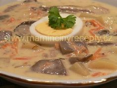 Hlíva nakyselo No Salt Recipes, Stuffed Mushrooms, Food And Drink, Pork, Menu, Pudding, Paleo, Vegan, Chicken