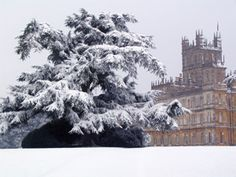 HIGHCLERE CASTLE 6 Use film of exterior on  DOWNTON ABBEY TV SHOW