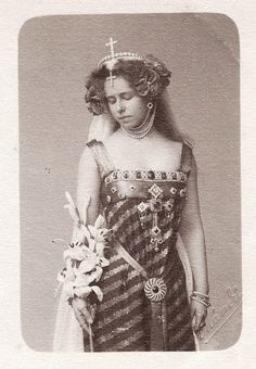 Crown Princess Marie of Romania in costumes. By Atelier Franz Mandy, Late