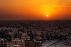 Arabian Sunset city, sunset, bahrain, middle east, buildings, gulf, construction, manama, seef area, seef district, avare towers, gcc