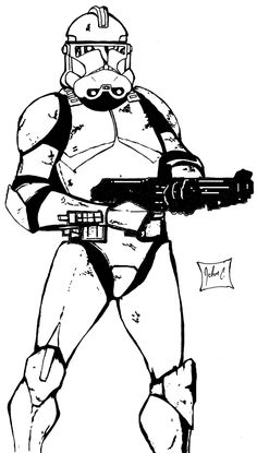 Star Wars Clone Trooper Coloring Pages with Clone Trooper Coloring     Find this Pin and more on Star wars by P K  Neung