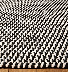 Featuring a high-contrast weave that's easy to wash, our Two-Tone Indoor/Outdoor Rope Rug anchors indoor and outdoor spaces alike. At home on any patio or deck, its versatile design and functionality makes it a comfortable option afoot in indoor eating or living spaces as well.  * 100% polypropylene * Suitable for indoor and outdoor use * Imported