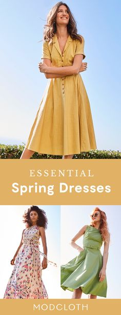 From fit and flare to maxi, ModCloth has every dress under the sun. Shop sizes XXS to Dress Outfits, Casual Dresses, Dress Up, Zooey Deschanel, Spring Dresses, Spring Outfits, Outfit Summer, Modest Fashion, Fashion Outfits