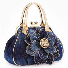 Vogue Star 2016 Top Quality Brand New Women Bag Fashion Denim Handbags Flower Shoulder Bags Design Womens Tote Bags womens bag Denim Handbags, Purses And Handbags, Luxury Handbags, Cheap Handbags, Popular Handbags, Leather Handbags, Celine Handbags, Luxury Purses, Small Handbags