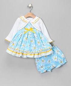 Blue Daisy Dress Set - Infant ~$17.99
