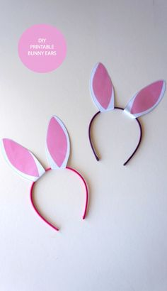 Make Your Own Bunny Ears with a Headband #Frugal easter craft for kids
