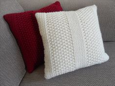 knitting cushions covers patterns - Pesquisa do Google 30 mailles 5-16-5-16-5-no 8
