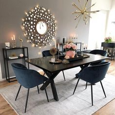 Cool Small Modern Dining Room Design Ideas For Your Inspiration Interior Design Living Room, Living Room Decor, Kitchen Interior, Modern Kitchen Tables, Minimalist Dining Room, Minimalist Kitchen, Dining Room Design, Dining Rooms, Contemporary Decor