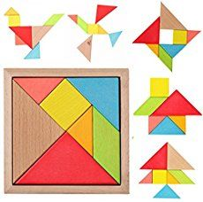 Tangram Puzzle with Manual Material: wood; Size: the outer frame) 7 pieces tangram puzzle is the world's oldest and most well known silhouette puzzle,fun for all ages. Fun Games For Kids, Puzzles For Kids, Activities For Kids, Children Games, Kids Toys, Tangram Puzzles, Wooden Jigsaw Puzzles, Ricky Y Morty, Puzzle Board Games