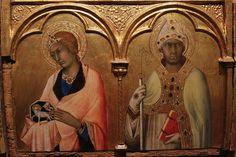 Simone Martini - Particolari del Polittico di Pisa - tempera e oro su tavola - 1319 - Pisa, Museo Nazionale di San Matteo.