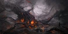 Dark Landscape__Digital Art Environments by Clara Moon
