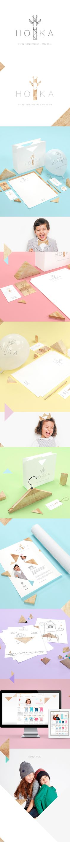 HOKA clothes for children by Joanna Namyślak, via Behance #identity #packaging #branding PD