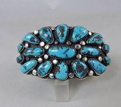 Candid Gemstone Ring Sterling Silver & Turquoise morenci, Arizona