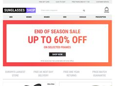 #Sunglasses Shop UK - Free UK Delivery on all orders.